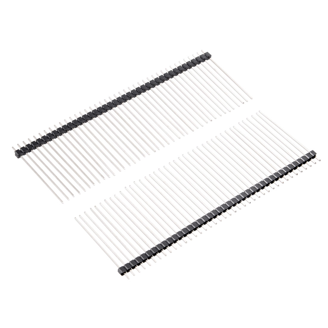 Uxcell 30Pcs Single Row Straight Connector 40Pin 11-40mm Length 2.54mm Pitch Pin Header Strip For Arduino Prototype Shield