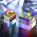 Шестигранный яркий светильник Prism, комбинированный кубическая призма, витражный луч, разделяющий призму, оптический экспериментальный инс...