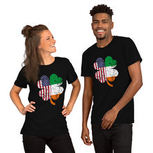 Irish American Flag Ireland Shamrock St Patricks Day Men's T-Shirt. Summer Cotton Short Sleeve O-Neck Unisex T Shirt New S-3XL()