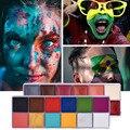 12 Colors Body Paint Safe Kids Flash Tattoo Face Paint Waterproof Body Art Oil Paints Makeup Tattoo Halloween Party Fancy Beauty