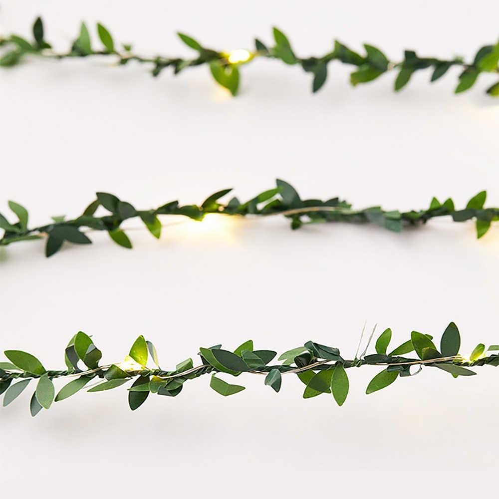 สีเขียวใบ LED ทองแดงลวด Fairy โคมไฟกัญชาเชือก Fairy Light โบราณ Holiday Party ตกแต่ง