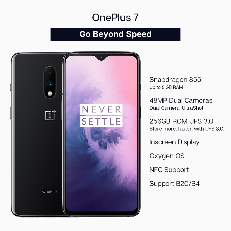 """Image 2 - Global ROM Oneplus 7 8GB 256GB Snapdragon 855 Smartphone Octa Core 6.41"""" AMOLED 48MP+16MP Rear Cam NFC-in Cellphones from Cellphones & Telecommunications"""