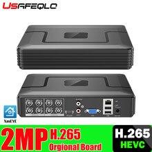 XMeye – enregistreur vidéo hybride 6 en 1, détection de visage, Audio H.265 + Hi3521D, 5mp, 8 canaux, WIFI, TVI CVI NVR AHD CCTV DVR