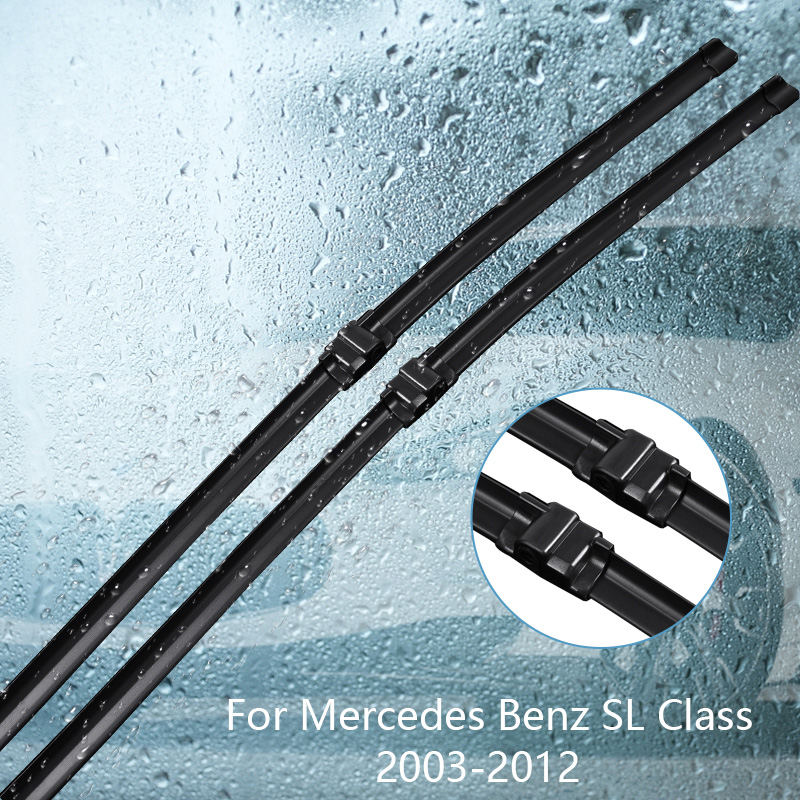 Wipers Blade For <font><b>Mercedes</b></font> Benz <font><b>SL</b></font> Class R230 <font><b>SL</b></font> 280 300 350 <font><b>500</b></font> 600 55 65 Car Accessories For Auto Rubber Windscreen Wiper image