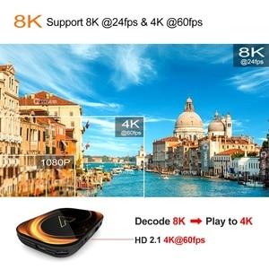 Image 4 - 2020 VONTAR X3 4GB RAM 128GB ROM 8K אנדרואיד חכם טלוויזיה תיבת אנדרואיד 9.0 TVBOX Amlogic S905X3 2.4G 5G Wifi 4K ממיר 64GB 32GB
