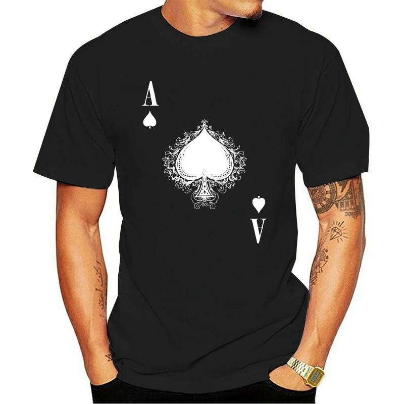 2021 Fashion 100% Cotton O-neck T-shirt Ace De Espadas Iv Spade Ace Poker cartão Casino Las Karte Royal Hold Em