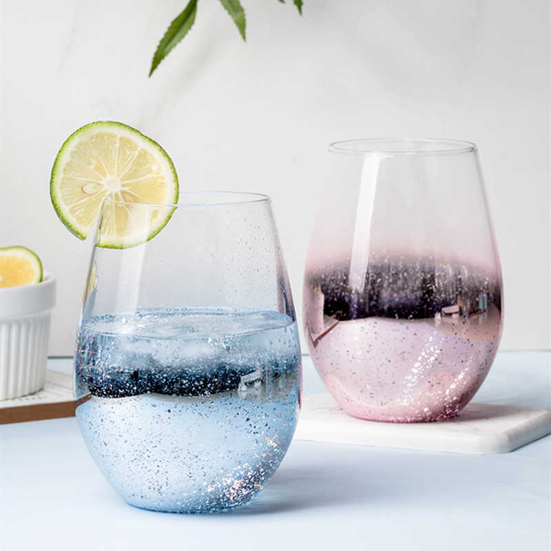 שמי זרועי הכוכבים בהדרגה שינויי צבע כוס מים כוס זכוכית נקבה ביתי ספל תה אישיות קפה כוס לשלוח קרובי משפחה מתנות