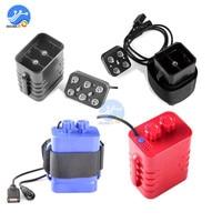 Caja de cargador de batería de litio, indicador LED, resistente al agua, estuche protector de batería para ciclismo, faro delantero, 4/6x18650