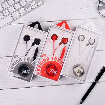 Manufacturers Direct Selling Simple in-Ear Wired Headset with Microphone May Call Bass Stereo New Style Metal Headsets