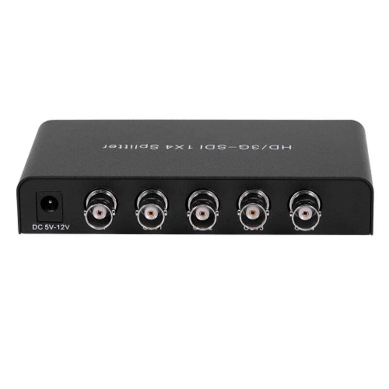 SDI 1X4 Splitter Video Converter 3G/HD/SDI Repeater Distribution Extender Wide Volatge Input Lossless Transmission for Projector