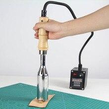 Портативная машина для горячего тиснения, ручная машина для бронзирования кожи, латунная форма, инструмент для тиснения логотипа, Кожевенная посуда, инструмент для деревообработки, 110 В/220 В