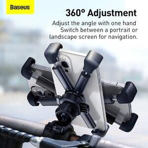 Image 4 - Baseus オートバイまたは自転車用のユニバーサル携帯電話ホルダー,iPhone用のハンドルバーマウント