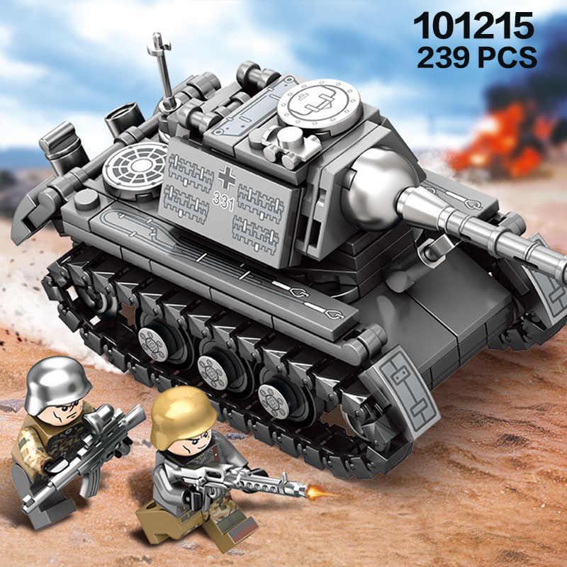 Semboบล็อกอาคาร 957 Pcs WW2 เยอรมนีถังอิฐกองทัพทหารยานพาหนะBlocksสงครามโลกครั้งที่ 2 ถังตัวเลขของเล่นสำหรับเด็ก