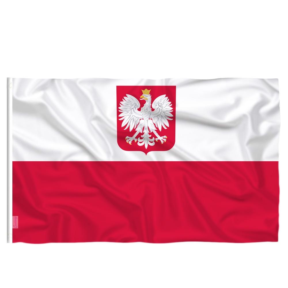 Польский флаг с орлиным флагом Candiway, белые, красные, европейские, уличные, 90*150 см, польские флаги, украшение для дома