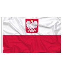 Candiway a república da polónia águia bandeira polonês branco vermelho ue interior ao ar livre 90*150cm polónia bandeiras decoração de casa