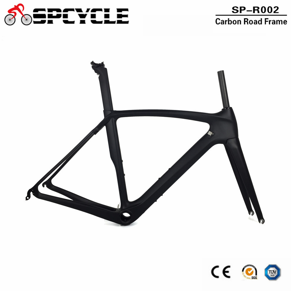 Spcycle 700C Aero T1000 Carbon Road Bike Frame Chinese Factory Cheap Road Bicycle Carbon Frameset BB386 Size 50/53/55/57cm image