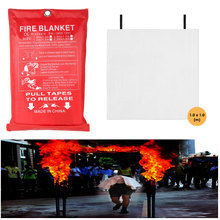 100x100cm Sealed Fire Blanket Home Safety Fighting Fire Extinguishers Tent Boat Emergency Survival Fire Shelter Safety Cover