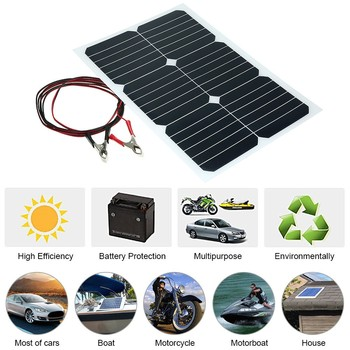 12V 20W Solar Car Battery Trickle Charger Portable Solar Panel RV Battery 20W 12V Solar Panel Solar Charging Panel