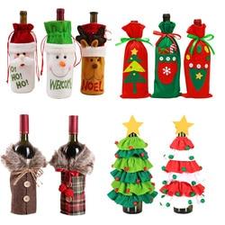 2020 Рождественское украшение для дома, рождественские сумки для винных бутылок, подарочные держатели для шампанского, Рождественский домаш...