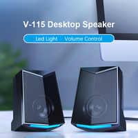 ¡Novedad de 2020! Altavoz portátil de sobremesa con graves estéreo 3D de gama completa, altavoz portátil para música DJ, altavoces USB para ordenador portátil y TV