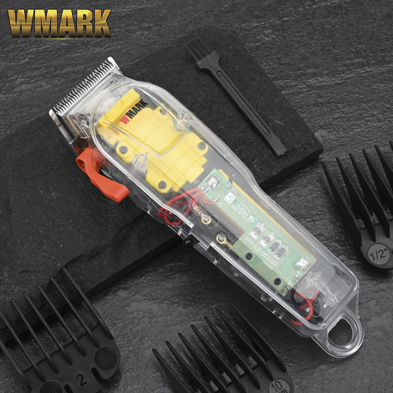 Машинка для стрижки волос WMARK NG-108, профессиональная перезаряжаемая машинка для стрижки волос в прозрачном стиле, беспроводной триммер для в...
