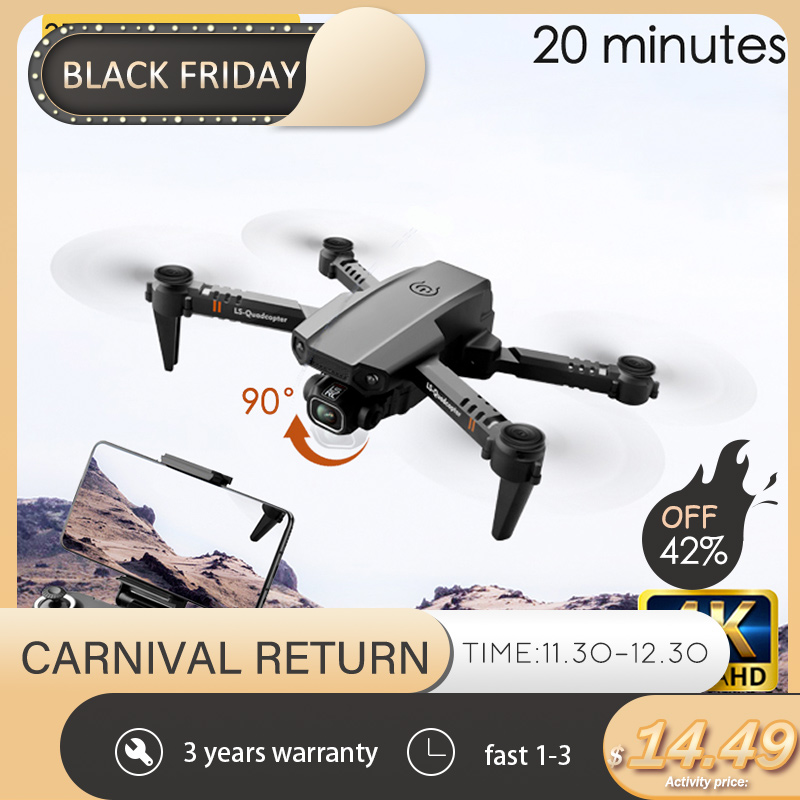 2020 New XT6 Mini 4K Drone HD Double Camera WiFi Fpv Air Pressure Altitude Hold Foldable Quadcopter rc helicopter child Toy Gift 1
