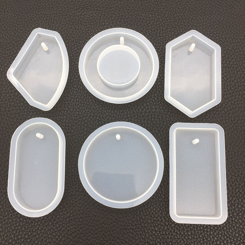 Resin Charm Jewellery Mold In Various Shapes Assorted Resin Pendant Mold Epoxy Resin Silicone Mold UV Resin Flexible Mould