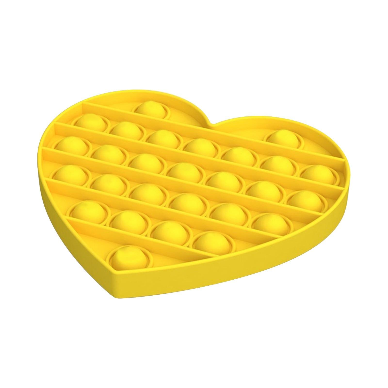 Sıcak kalp stres oyuncakları Popit antistres oyuncaklar yetişkin çocuklar için aşk itme kabarcık Fidget duyusal oyuncak otizm özel İhtiyaçları игрушки