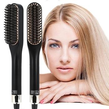 Hair Straightener Curling Beard Comb Straight Hair Comb Brush Hair Beard Curly Tool Bear Brush Beauty Health Styling For Men 1