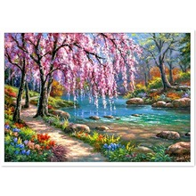 Full Diamond Paintings Household Decoration Landscape Scenery Theme DIY Childrens Gift Funny Covered Z