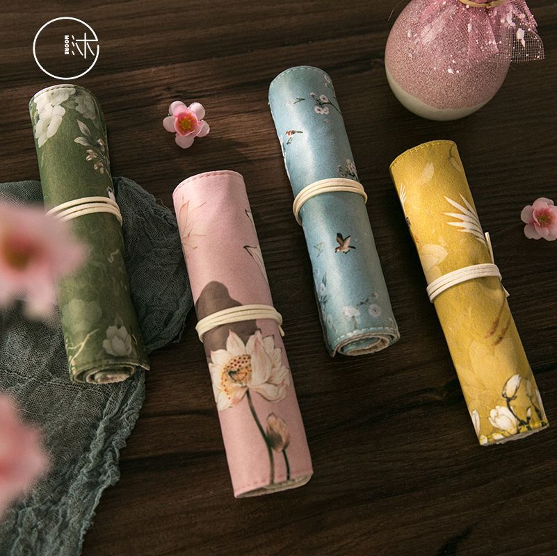 12pc/lot Chinese Traditional Antique Series Pencil Case Bag For Girls Portable School Office Stationery Supplies New Arrival
