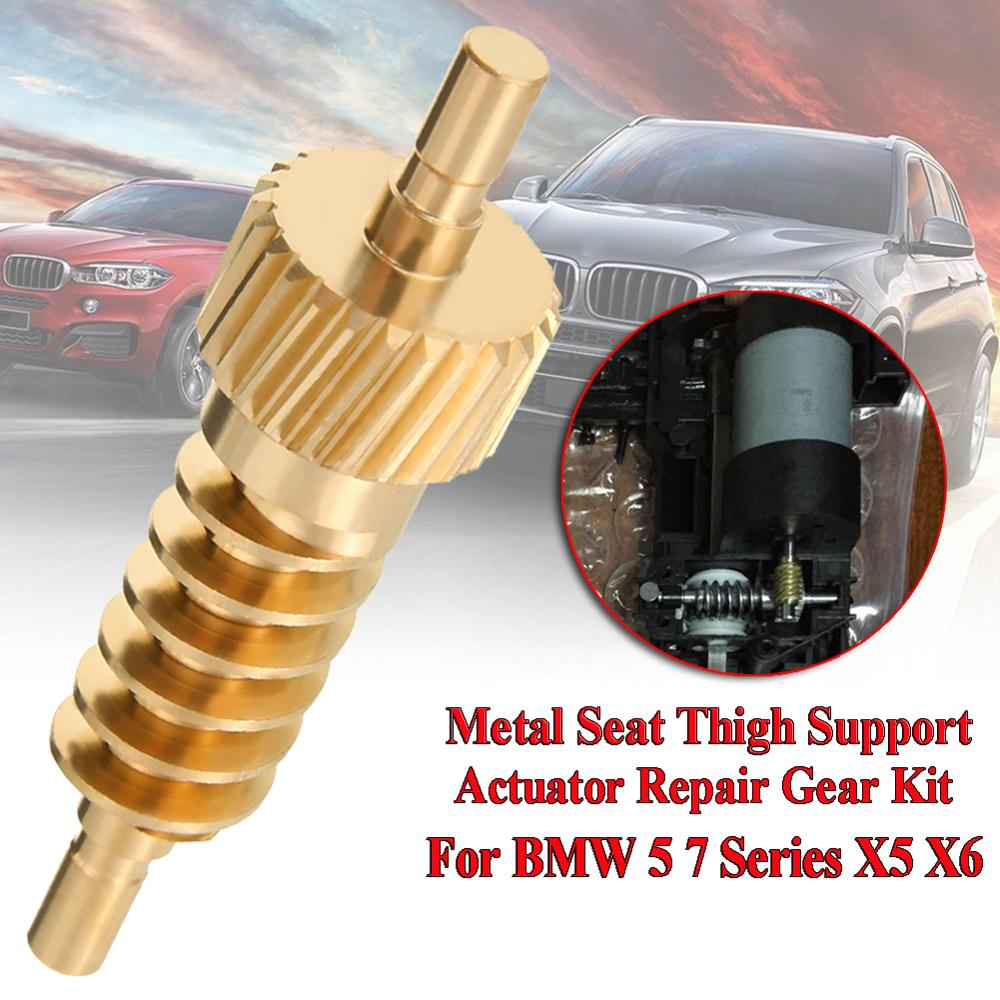 High Quality Seat Thigh Support Actuator Repair Metal Gear Car Repair Gear Kit 52107068045 For BMW 5 7 Series X5 X6