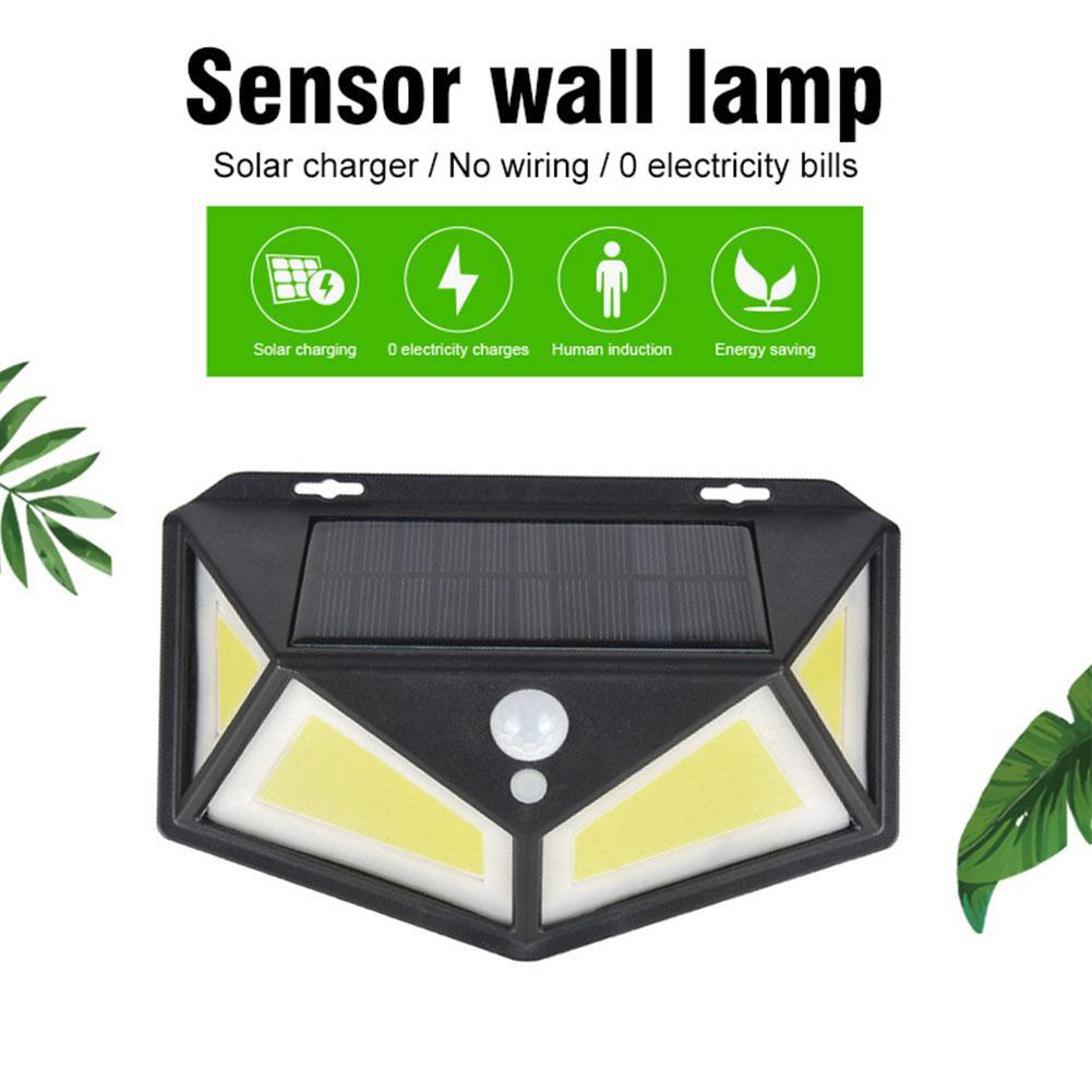 76 LED Solar Light SMD2835 Four Sides Lighting PIR Motion Sensor Street Light Garden Fence Wall Light Led Solar Light Waterproof
