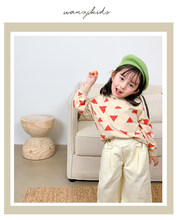 Baby Girls Sweatshirts 봄 가을 어린이 옷 소년 긴팔 줄무늬 셔츠 Simple Undercoat Bottoming Cotton Shirt(China)