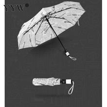 Pocket Umbrella Female Automatic Paraguas Anti Uv Sun Rain Pongee Windproof Folding Umbrellas Unisex Ambrella