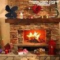 4 лопасти вентилятор для печи  работающий от тепловой энергии с термометром домашний бесшумный вентилятор для камина для дерева/бревен горе...