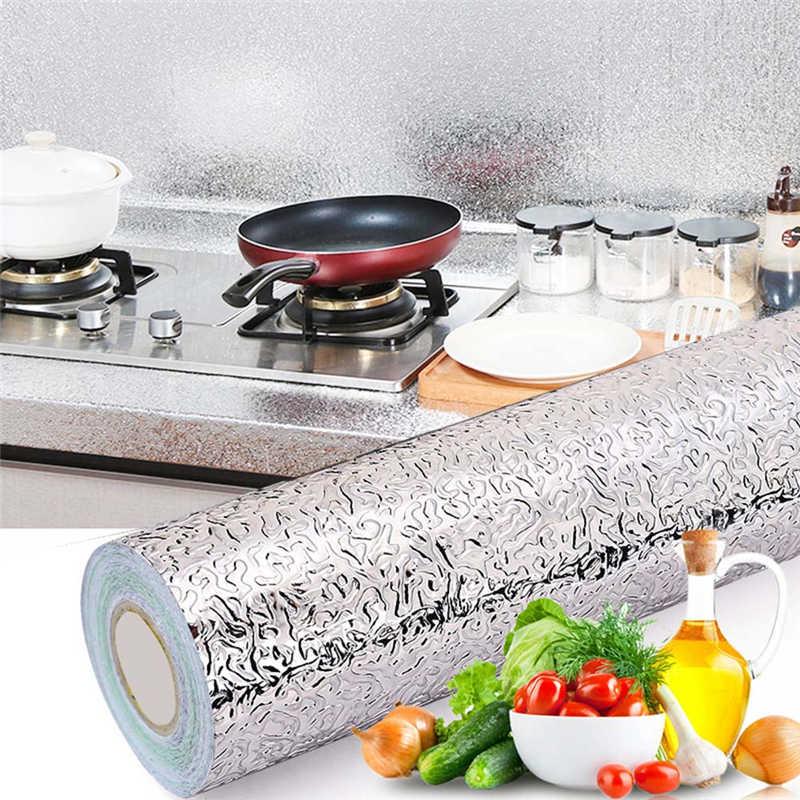 Épais imperméable à l'eau étanche à l'humidité cuisine papier d'aluminium auto-adhésif grand tiroir tampon résistant à l'huile pâte huile autocollants outils de cuisine