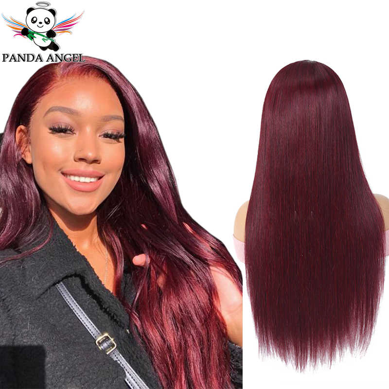 Panda 99J #27 #30 13x4 Lace Front Human Hair Wigs Remy Pre Plucked 150% Density Brazilian Burgundy Red Straight Lace Front Wigs
