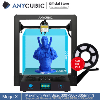 Anycubic Mega-X Mega Series 300*300*305mm 3D Printer Large Printing Size Meanwell Power Supply Ultrabase 3d Impressora 1