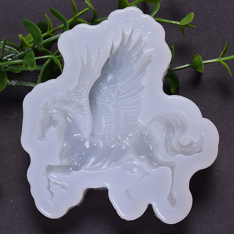 Horse With Wings Silicone Mold Epoxy Resin Supplies Animal Cabochon Mold Resin Crafts Clear Resin Mold Resin Art Supplies