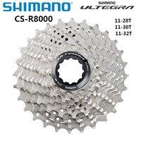 Shimano Ultegra CS R8000 الطريق الدراجة الحرة 11 سرعة 11 32T CS R8000 كاسيت ضرس السلع الأصلية قطع غيار الدراجات-في عجلة حرة للدراجات من الرياضة والترفيه على
