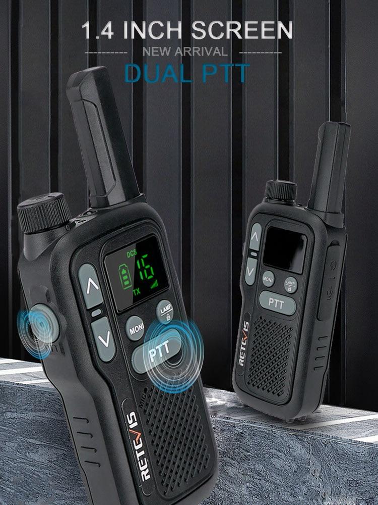 Transceiver Walkie-Talkie Lcd-Display Pmr-Radio Retevis Dual-Ptt PMR446 FRS 2pcs NO RB618
