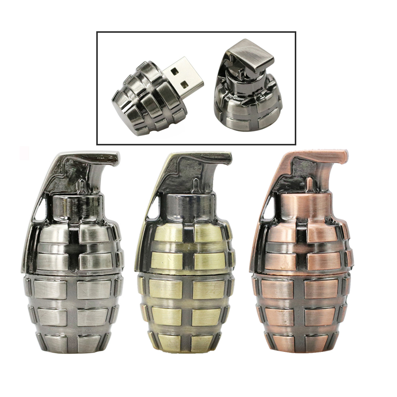 PenDrive USB Disk Flash Memory Grenades Pen Drive 4G 8G 16GB 32G Bomb Guns Pen Drive Gifts Metal PenDrive USB Flash Drive