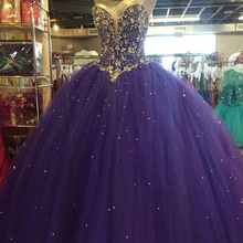 Ball-Gown Wedding-Dresses ANGELSBRIDEP Purple Princess Cinderella Beading Formal 15 Crystal