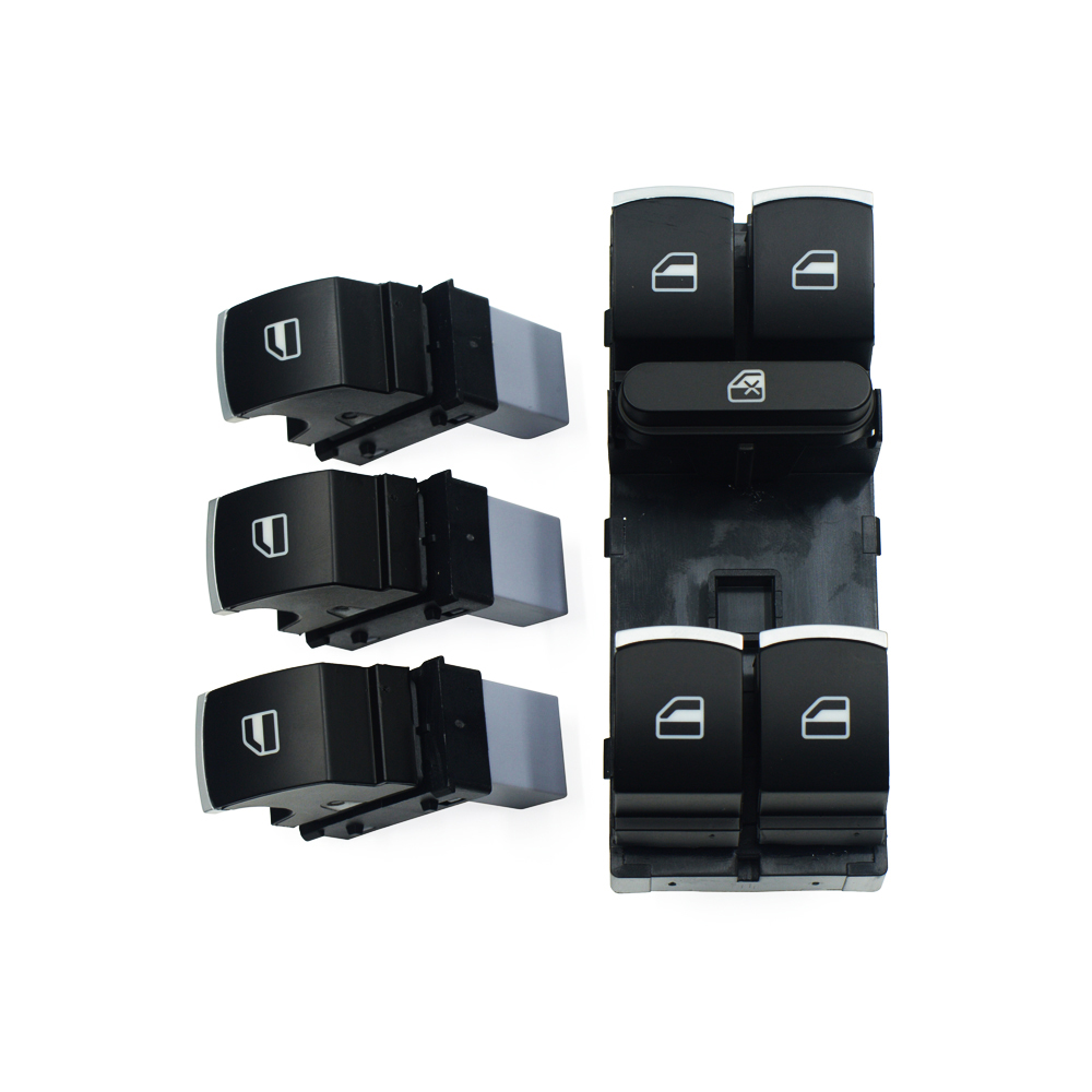 Window Control Switch Button 4pcs Set For Volkswagen VW Golf MK5 6 Jetta Passat B6 Tiguan Rabbit Touran 5ND 959 857 5ND 959 855 in Car Switches Relays from Automobiles Motorcycles