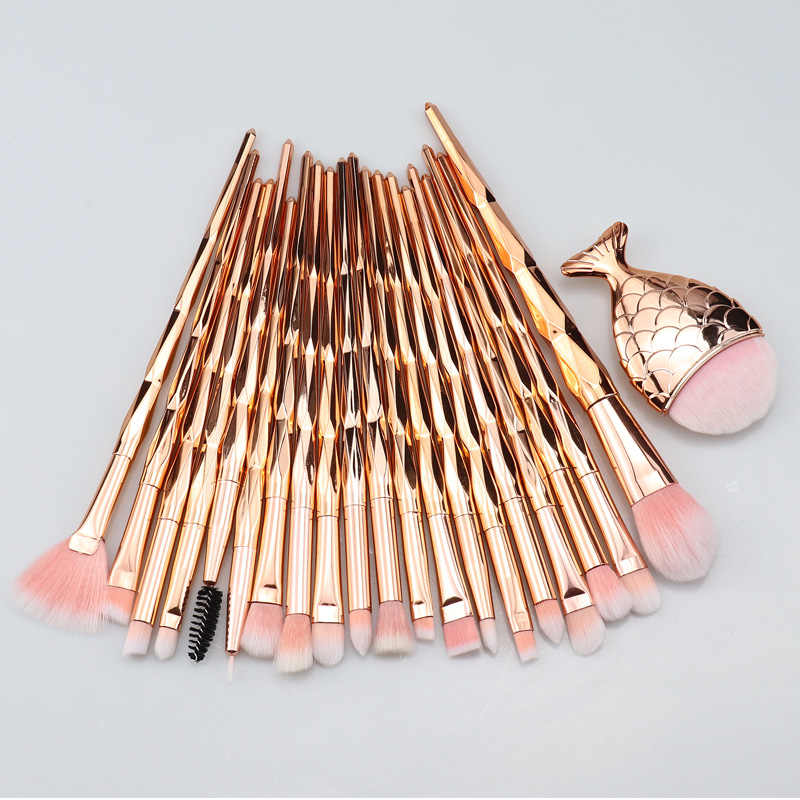 SinSo Makeup Brushes Set 1-21Pcs Profesional Unicorn Makeup Brush Kit Foundation Eyeshadow Blush Kontur Membuat Kuas alat
