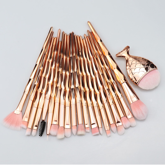 SinSo beauté maquillage pinceaux ensemble 1-21 pièces licorne maquillage pinceaux outil fondation Blush ombre à paupières sourcil lèvre cosmétique brosse Kit