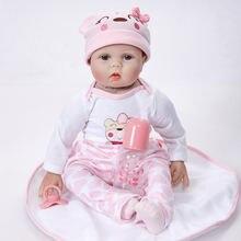 55cm full body silicone rebirth baby doll simulation reborn
