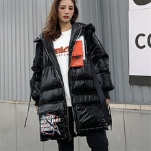 Jacket Women Coat Parkas Hooded White-Duck-Down Female Winter Long Fashion High-Quality