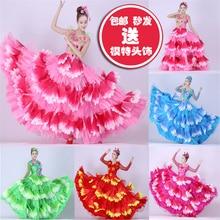 Spanish Bullfight Flamenco Dresses For Women Girls Belly Dance Dress Skirt Petal Skirt Modern Dance Spain Flamenco Skirts SL1461